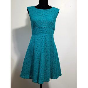 LOFT Ann Taylor Eyelet Lace Fit and Flare Dress